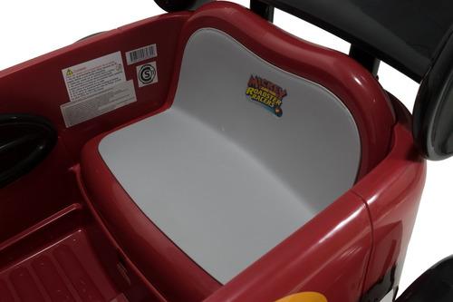auto a batería infantil 6 v race car mickey disney