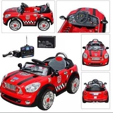 auto a bateria mini cooper con control remoto mi sueño