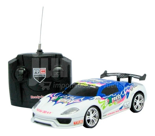 auto a control remoto drift ready blanco azul 1:24