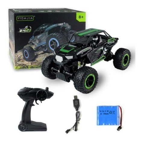 auto a control remoto rock challenger monster truck 1:14