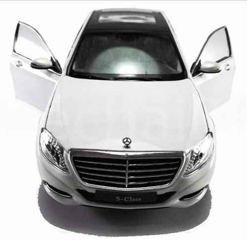Auto a escala 1 24 mercedes benz s class color blanco for Mercedes benz s class colours