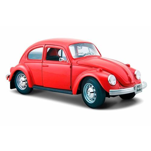 auto a escala maisto 1:24 volkswagen beetle rojo pc