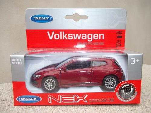 auto a escala volkswagen scirocco 1/36 welly