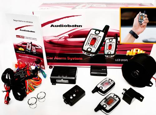 auto alarma a2v audiobahn controles lcd 9 funciones sirena