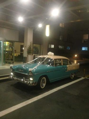 auto americano  chevrolet bel air 55 - eventos y casamientos