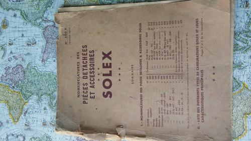 auto antiguo manual carburador solex original
