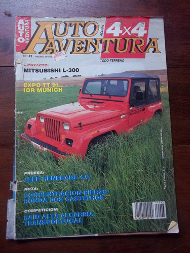 auto aventura 4x4 1991 julio revista españa en la plata