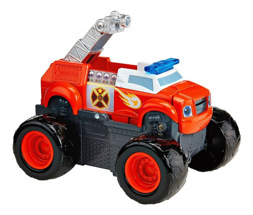 auto blaze monster machines transformable bombero con sonido