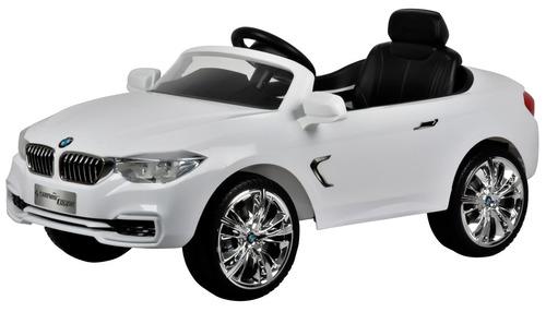 auto bmw eléctrico blanco, licencia original, regalo niño