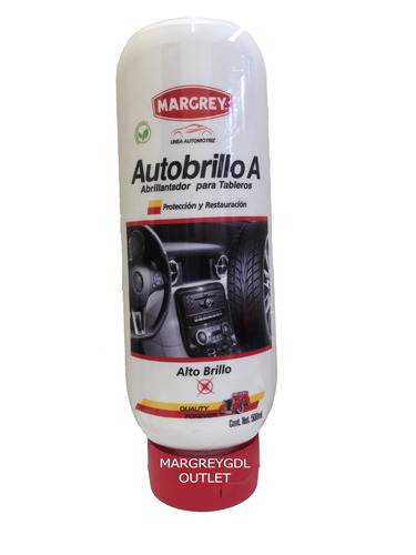 auto brillo a plástico hule tablero llanta 500ml margrey