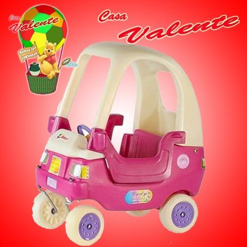 auto caminador coupe lady rotoys puertas rosa casa valente