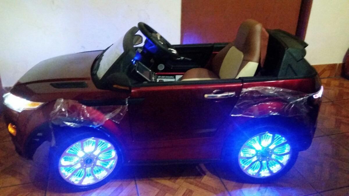 Auto Carro A Bateria Juguete Land Rover Control Remoto Music S