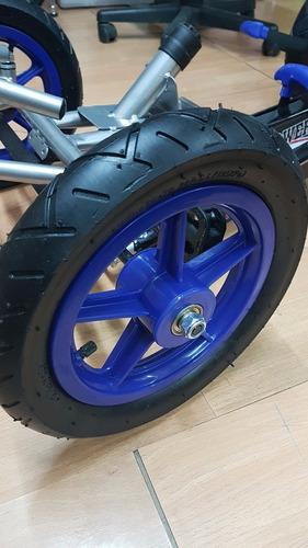 auto  carro go kart  pedales grande azul kidscool para niños