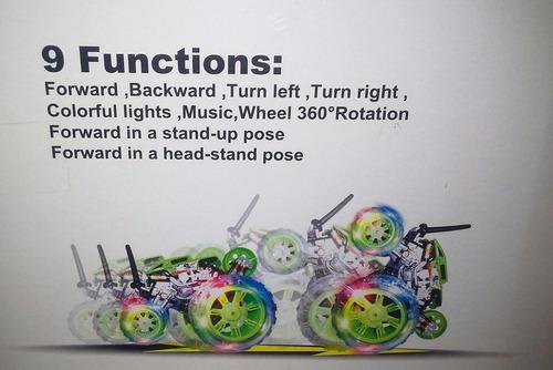 auto ciclon c/control ,gira 360º( bateria recargable)9 func