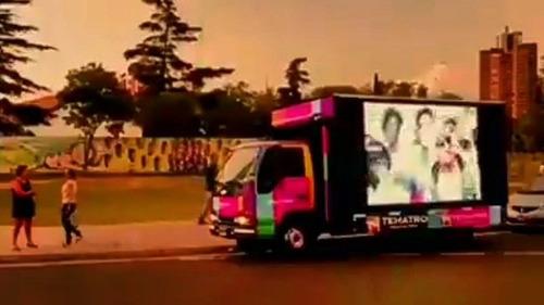 auto cine movil escenario movil eventos publicidad movil