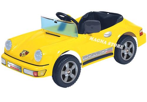 auto coche pedal varilla porsche carrera biemme 3 a 6 años