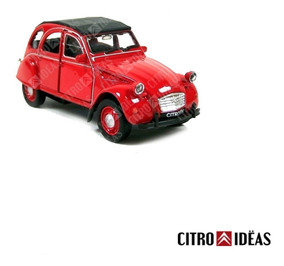 Welly Auto Metal Juguete Esc1 Colección 36 3cv Citroën Rojo 3L54RAj