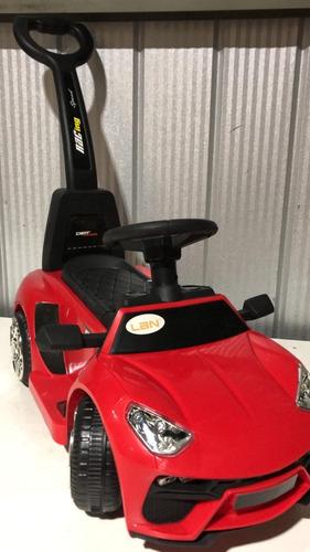 auto corre pasillo eléctrico a bateria con manilla para niño