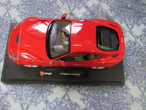 auto de colección burago f12 berlinetta  escala  1/24