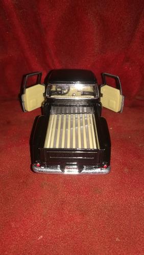 auto de colección chevy 1955 stepside pick up kinsmart
