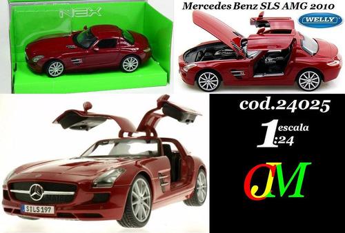auto de coleccion escala 1:24 mercedes benz sls amg 2010 wel