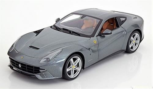 auto de colección ferrari f12 berlinetta gris / escala 1:18