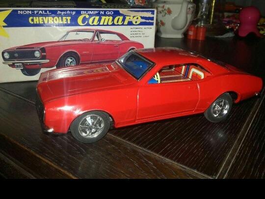 Auto De Lata Antiguo Marca Taiyo Chevrolet Camaro 200000 En