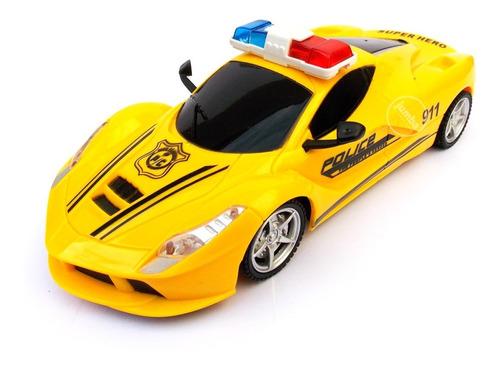 auto de policía a control remoto volante coche carrera 1:20
