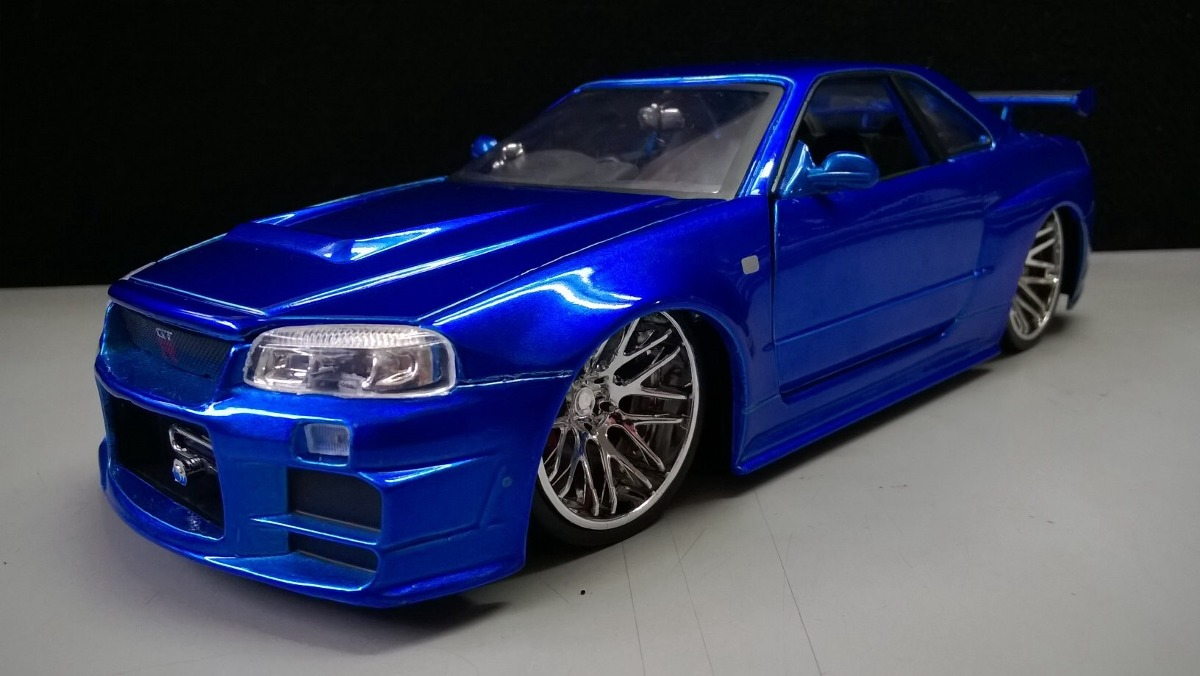 auto de r pido y furioso 3 nissan skyline gt r34 en 1 24. Black Bedroom Furniture Sets. Home Design Ideas