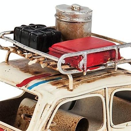 auto decorativo chapa fiat 600 + combi con portaequipaje