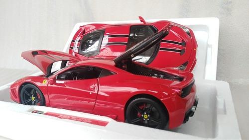 auto deportivo de lujo  ferrari 458 speciale escala 1/18