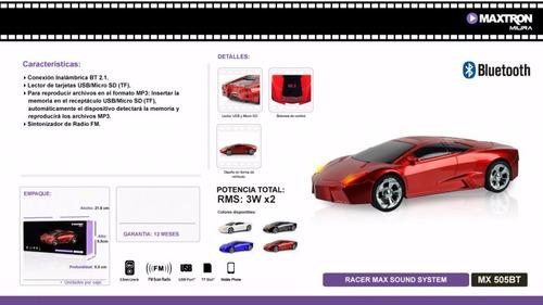 auto deportivo sonido portatil con bluetooth fm manos libres