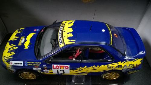 auto deportivo subaru impreza 555 rally mundial 1996 , 1/18