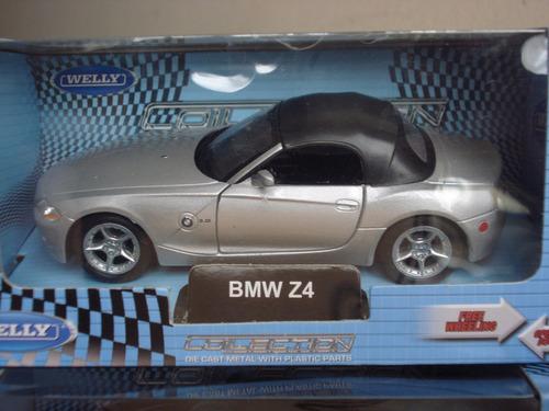 auto die cast bmw z4 - marca welly, escala 1:43