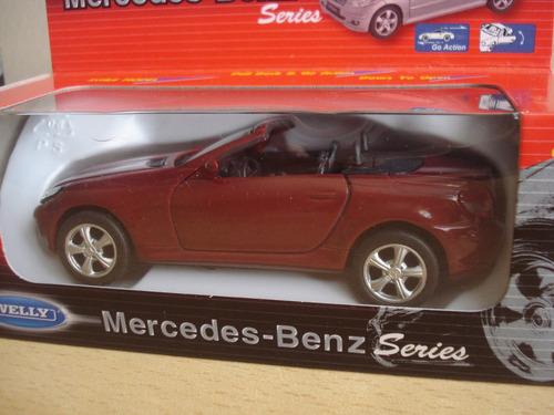 auto die cast mercedes benz slk 350-marca welly, escala 1:43