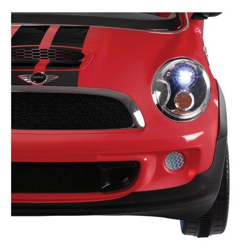 auto eléctrico prinsel mini cooper cp rojo 6v