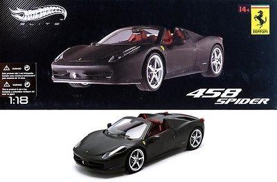 auto escala 1/18 ferrari 458 spider hotwheels elite