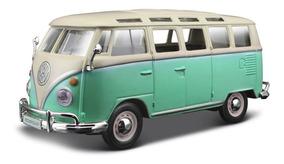 MINIONS COCHE FURGONETA VW T1 SAMBA BUS A ESCALA COLECCION DIE CAST 1 43