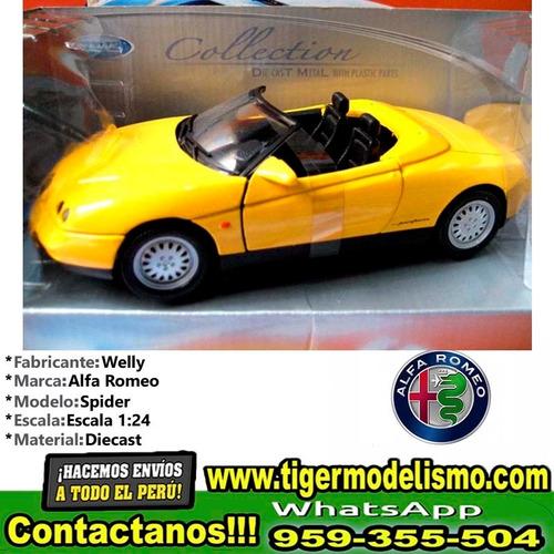 auto escala alfa romeo spider welly 1/24 sku: 375
