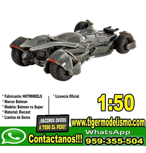 auto escala batman vs superman 1:50 hotwheels sku: 92