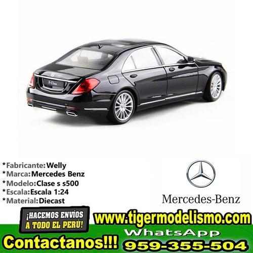 auto escala mercedes benz clase s s500 welly 1/24 sku: 239
