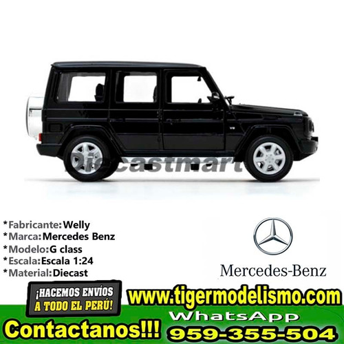auto escala mercedes benz g class welly 1:24 sku: 190