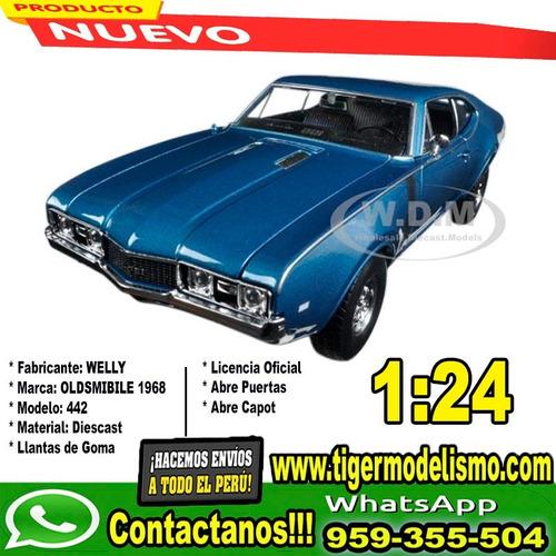 auto escala oldsmobile 1968 442 1/24 welly sku: 389