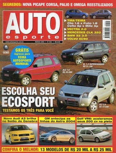 auto esporte nº454 ecosport golf vr6 bmw x5 3.0 vectra volvo