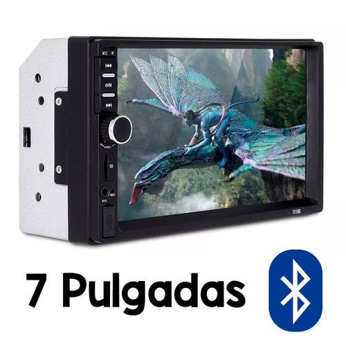 auto estéreo 2 din bluetooth mirror pantalla sd usb y cámara