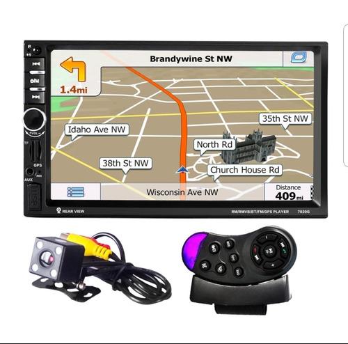 auto estereo gps control volante pantalla 2 din microsd usb