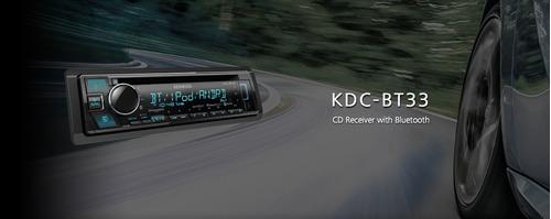 auto estéreo kenwood kdc-bt33 bluetooth spotify usb cd aux