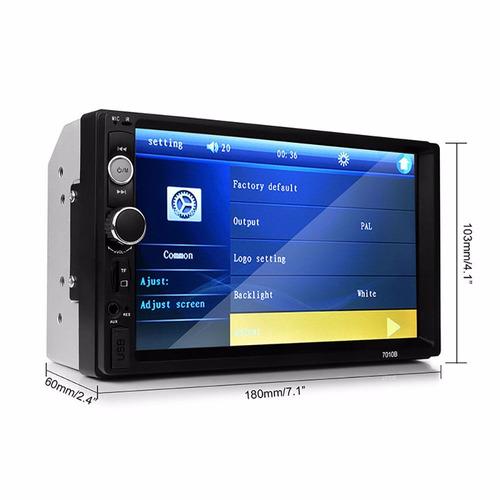 auto estéreo pantalla  7   usb,  bluetooth+camara de reversa