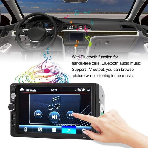 auto estéreo pantalla táctil 1080p 2 din apoyo radio fm 7-
