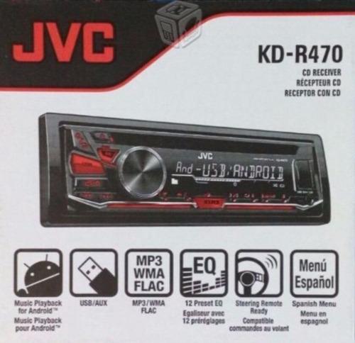 auto estéreo para auto jvc kd-r470 usb aux disco